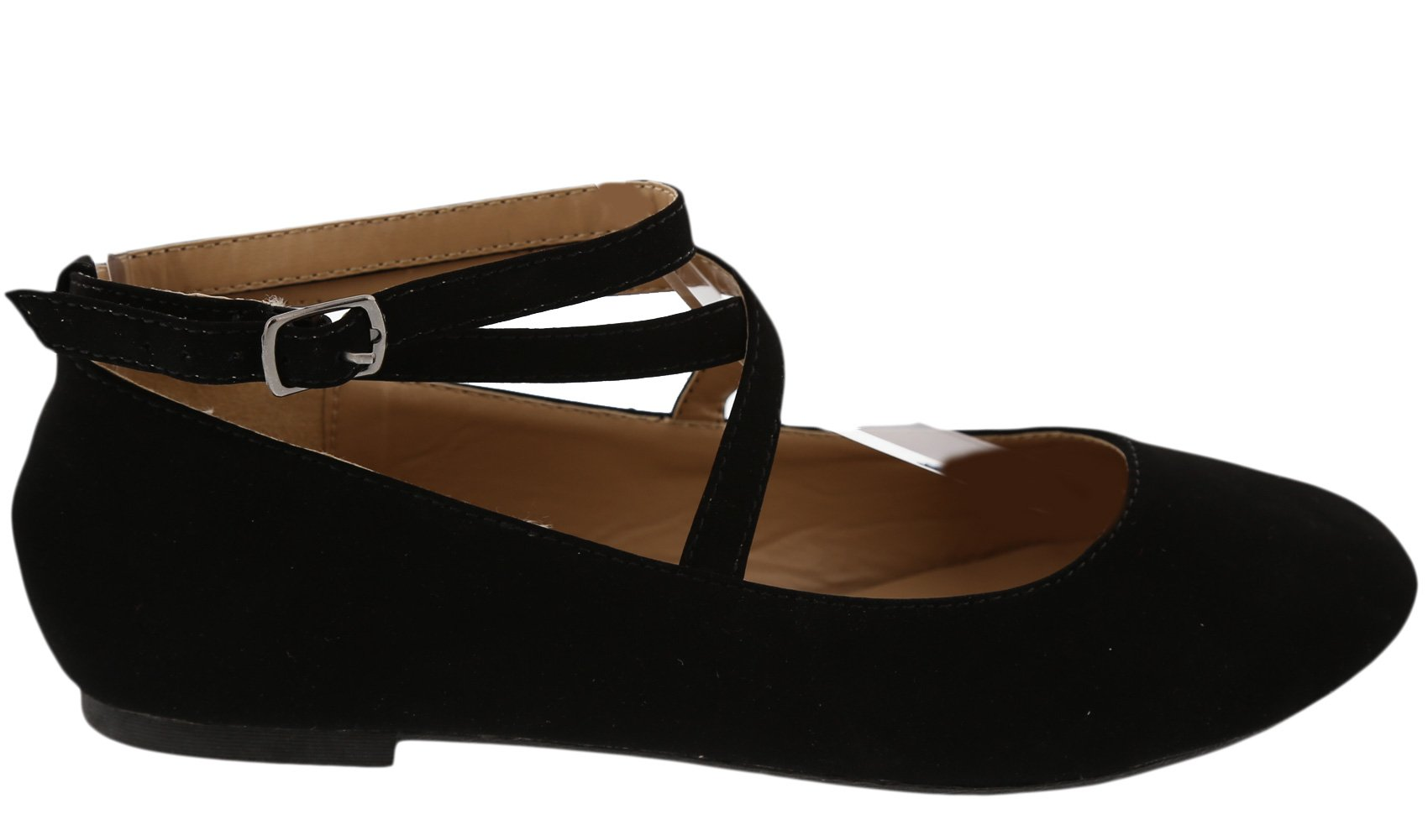 Top Moda Women's Brea-3 Strappy Ballet Flat (8 B(M) US, Black) by Top Moda (Image #3)