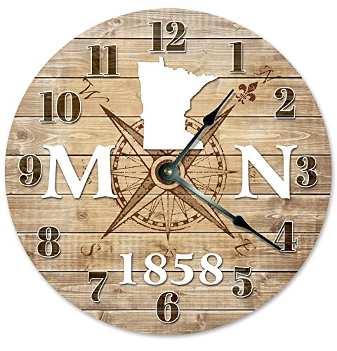 MINNESOTA CLOCK Established in 1858 Decorative Round Wall Clock Home Decor Large 10.5