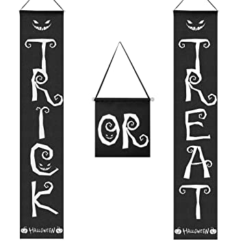 Coogam 3 PCS Trick or Treat Cartel de Halloween Cartel ...