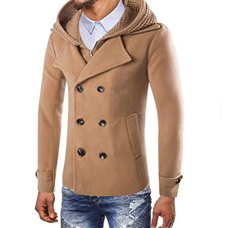 Amazon.com: Jacket 😊Men Button Smart Overcoat Coats,Boys Winter Trench Long Outwear (L, Dark Gray): Electronics