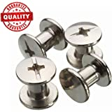 """Chicago Binding Screws sex bolt barrel nut barrel bolt post screw Phillips/Cross head, Suitable for all kind of art and leather, Made of Stainless Steel never rust, Length 1/4"""" 100sets"""