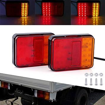 2 Rund Orange Seitenmarkierung Anhänger Lampen Blinker Blinker 12//24V Lkw Bus