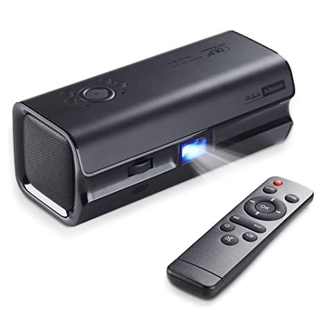 Mini DLP Movie Projector,iRULU HiBeam H60 2019 Upgrade Portable  Projector,HDMI 1080P,VGA,AV,USB,Double Speaker Home Theater Projectors for