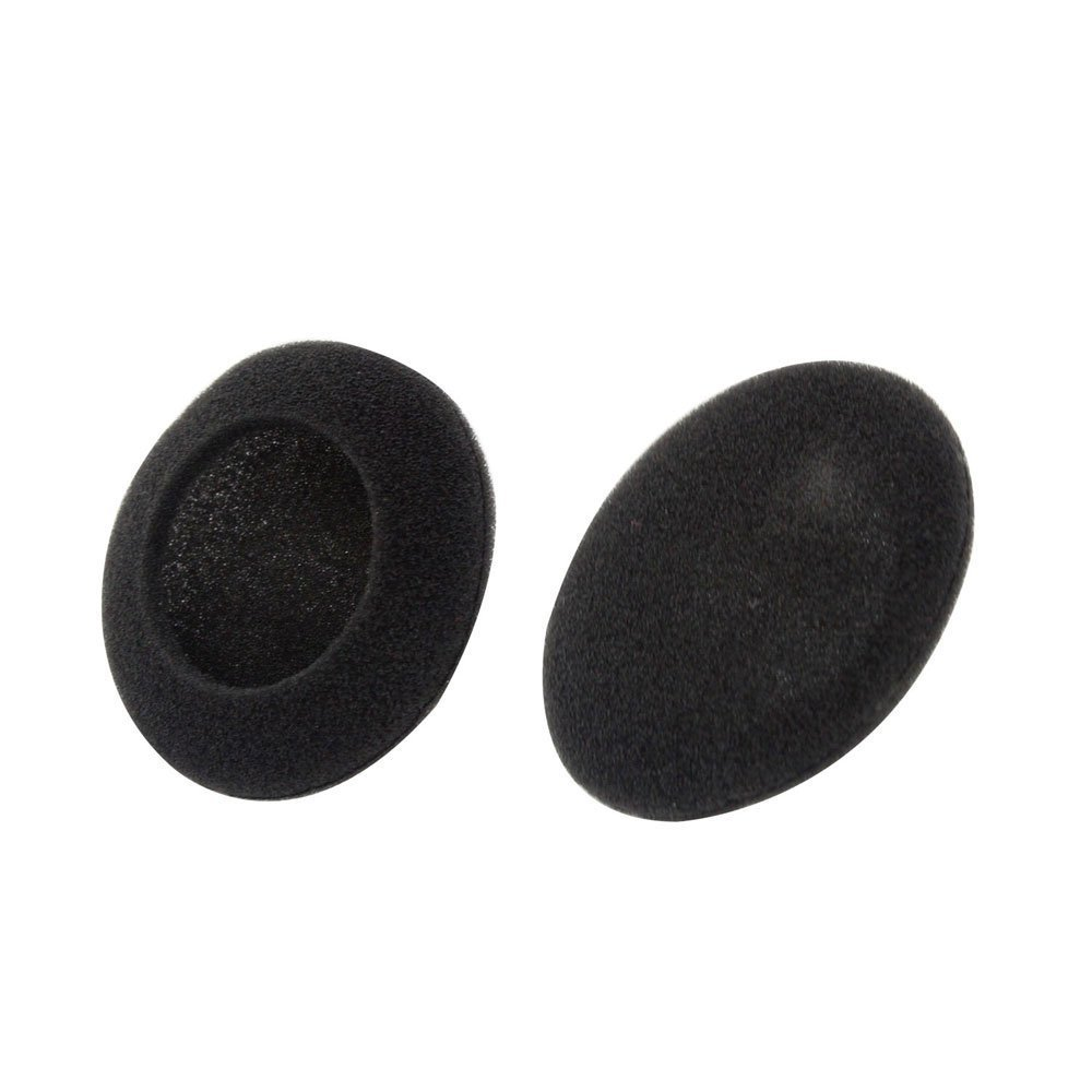 2 x Cojin de espuma Cubierta almohadilla de oreja para auriculares audifono TOOGOO Cubierta de auriculares Negro, 50mm R
