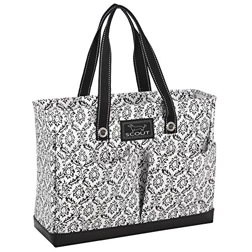 SCOUT Uptown Girl Medium Multi-Pocket Tote Bag, Water Resistant, Zips Closed, Midnight in (Easy Zip Tote)