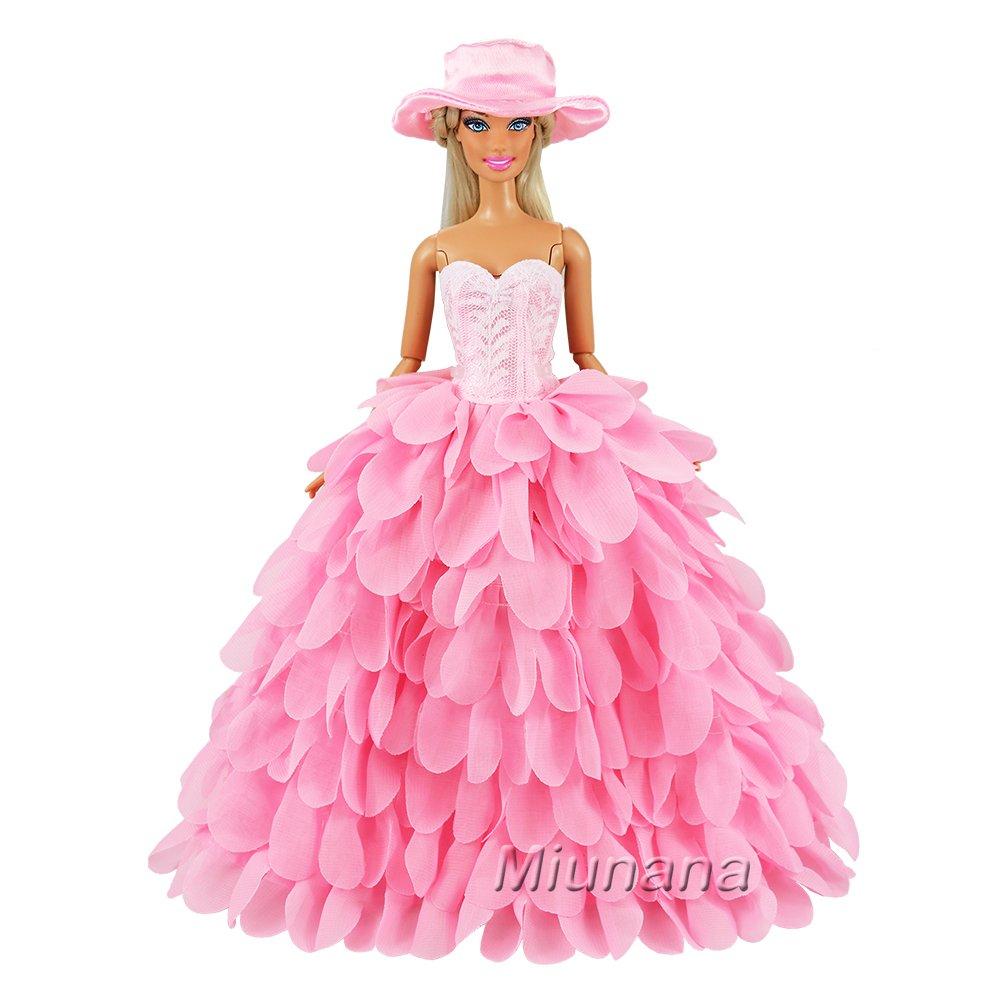 Miunana 2x Trajes de Vestidos Novia Princesa Juegos Ropa Vestir ...