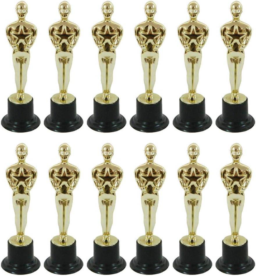MINGSTORE Molde de estatuilla Oscar de 12 Piezas para recompensar a los ganadores, magníficos trofeos en Ceremonias y Herramientas de decoración de Pasteles Festivos