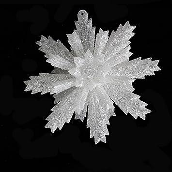 11cm acrylic snowflake white powder effect 3d snowflakes christmas decoration cosplay snow scene prop 11cm - 3d Acrylic Christmas Decorations