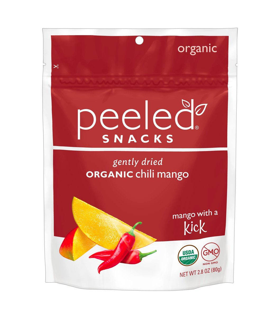 Peeled Snacks Organic Dried Fruit, Mango with a Kick, 2.8 Ounce (Pack of 12)