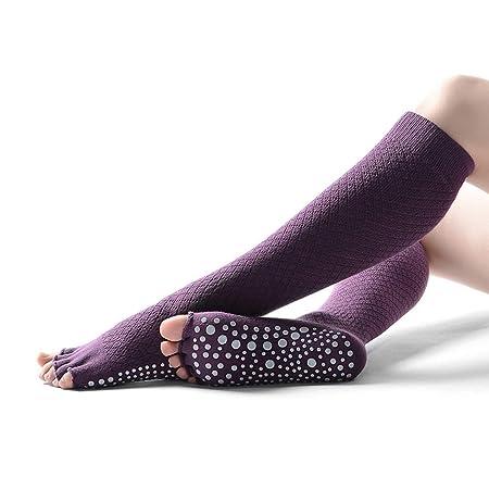 Calcetines de yoga Señoras Tubo Largo Malla sin Dedos ...