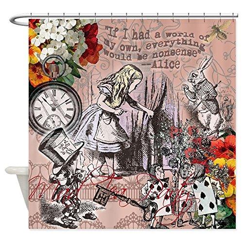 Curt Rod - CafePress - Alice in Wonderland Vintage Adventures Shower Curt - Decorative Fabric Shower Curtain (69