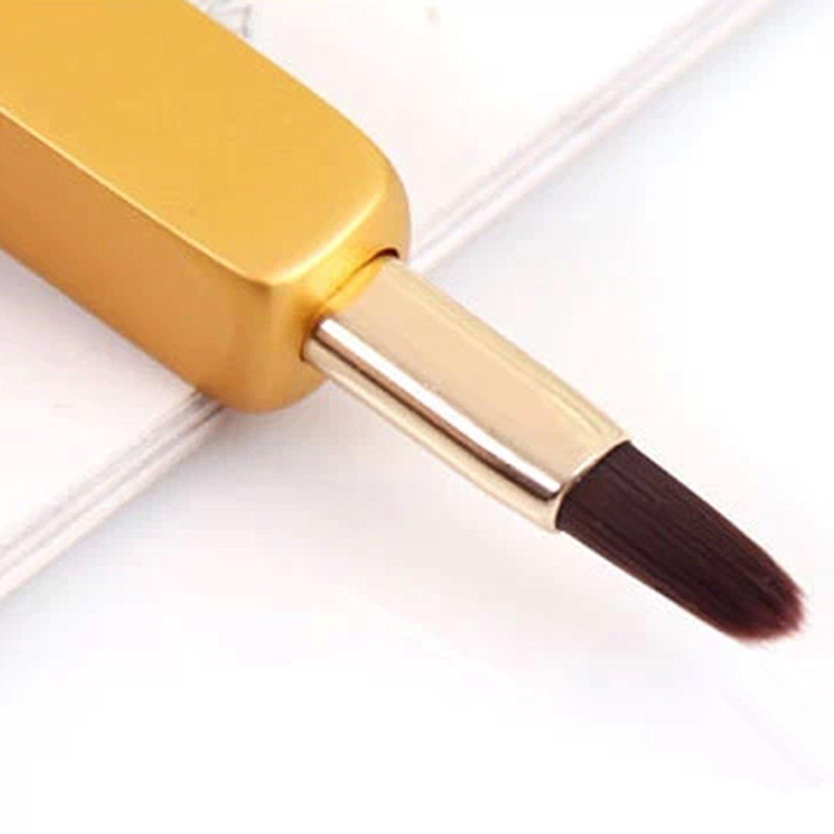 OBR KING - Pincel de Labios retráctil con Funda para Maquillaje (Oro)