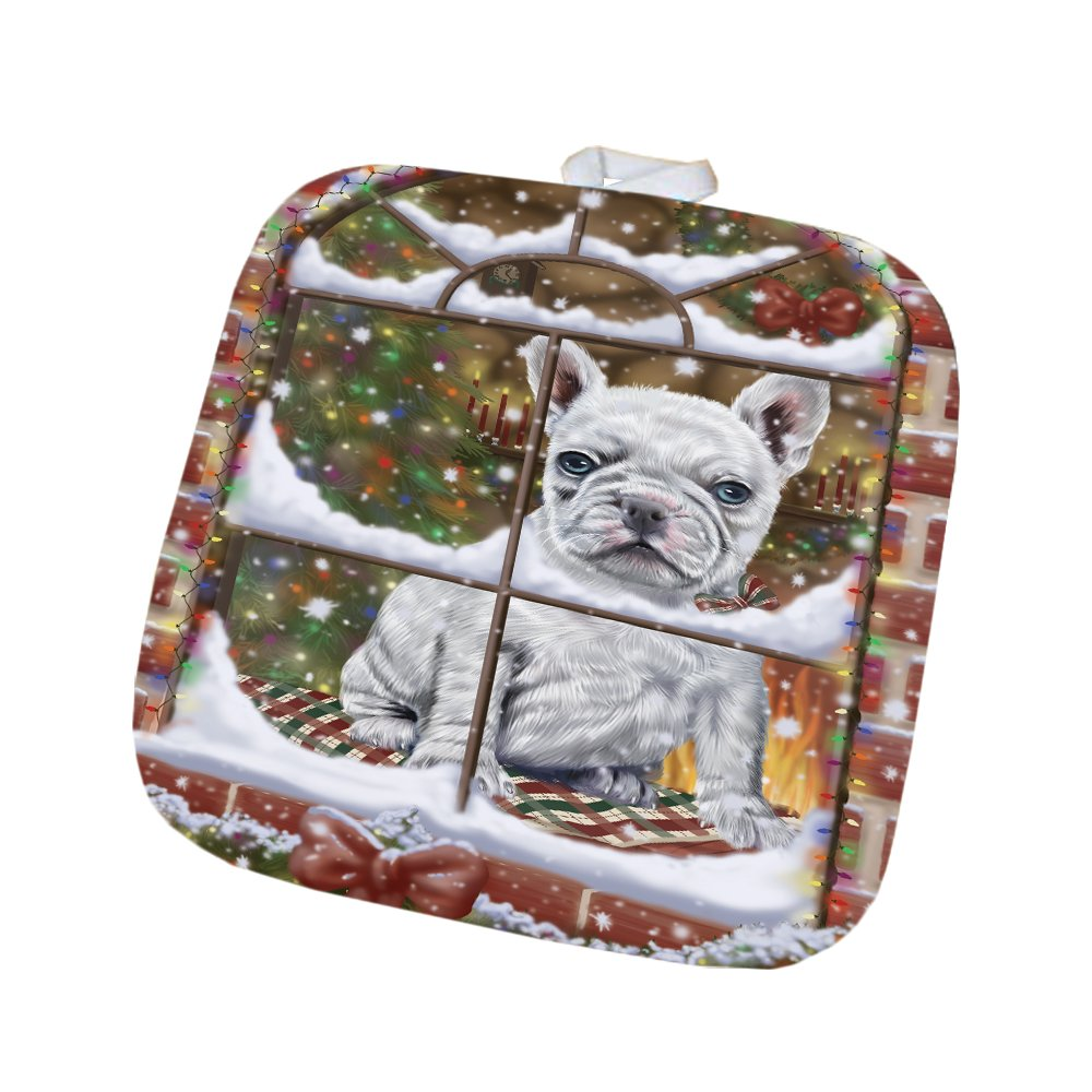 Please Come Home For Christmas French Bulldog Sitting In Window Pot Holder POT48393