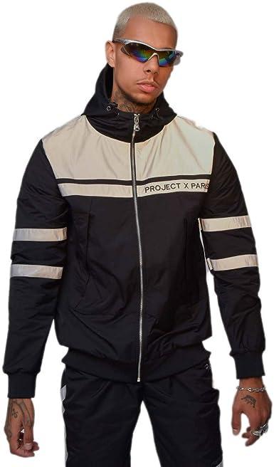 Veste à Capuche bi matière réfléchissante Noir XL: