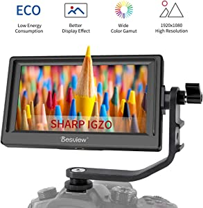 "Desview Mavo-P5 Camera Field Monitor, 5.5"" Sharp IGZO Screen, 1920x1080 with 4K HDMI Input,DSLR-Camera-Field-Monitor"