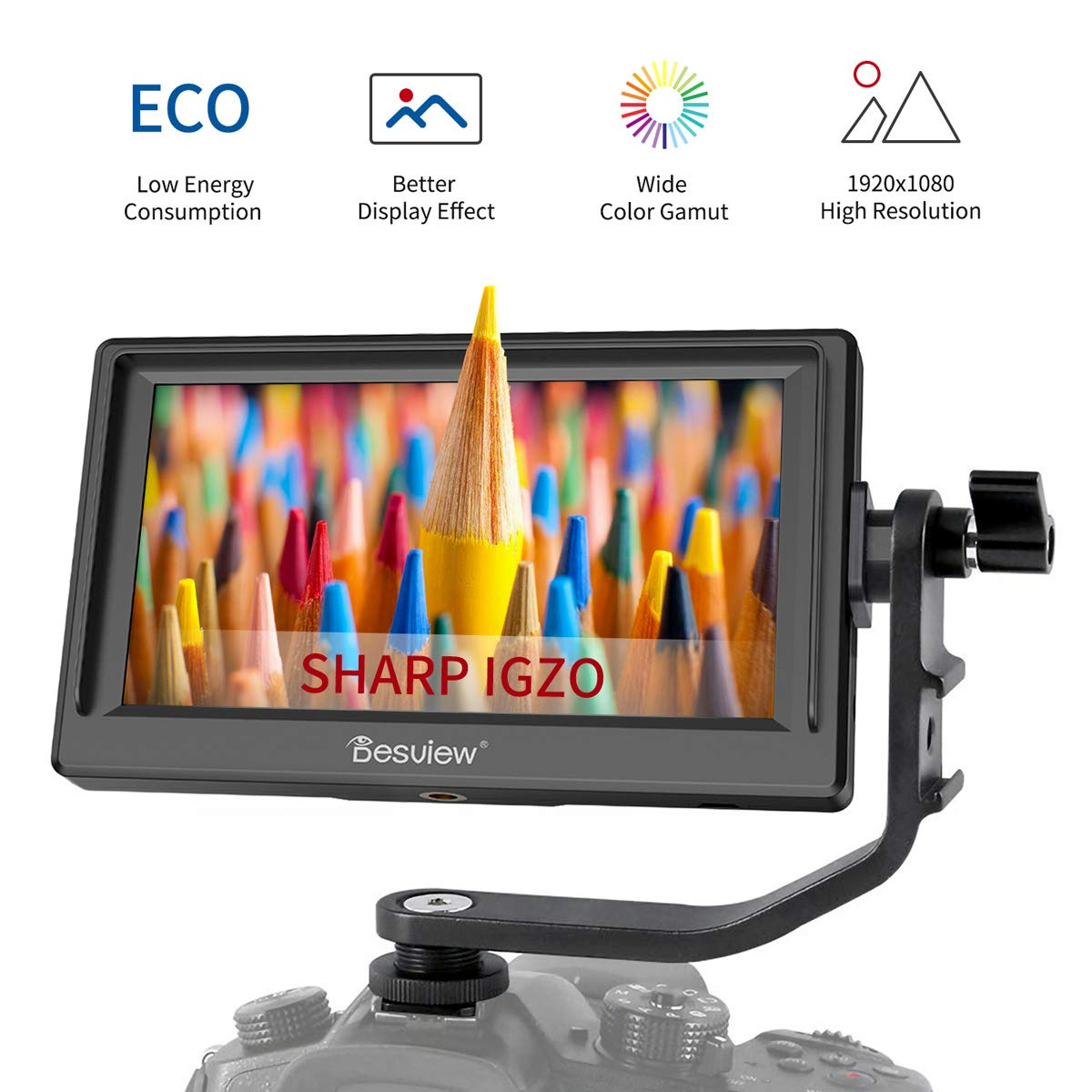 Desview Mavo-P5 Camera Field Monitor, 5.5'' Sharp IGZO Screen, 19201080 with 4K HDMI Input,DSLR-Camera-Field-Monitor by Desview
