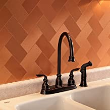 Aspect Peel and Stick Backsplash 3in x 6in Brushed Copper Short Grain Metal Tile 15 Sq Ft Kit for Kitchen and Bathrooms