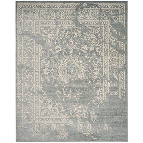 Safavieh Adirondack Collection ADR101T Slate and Ivory Oriental Vintage Distressed Area Rug (9' x 12') - 12' Slate