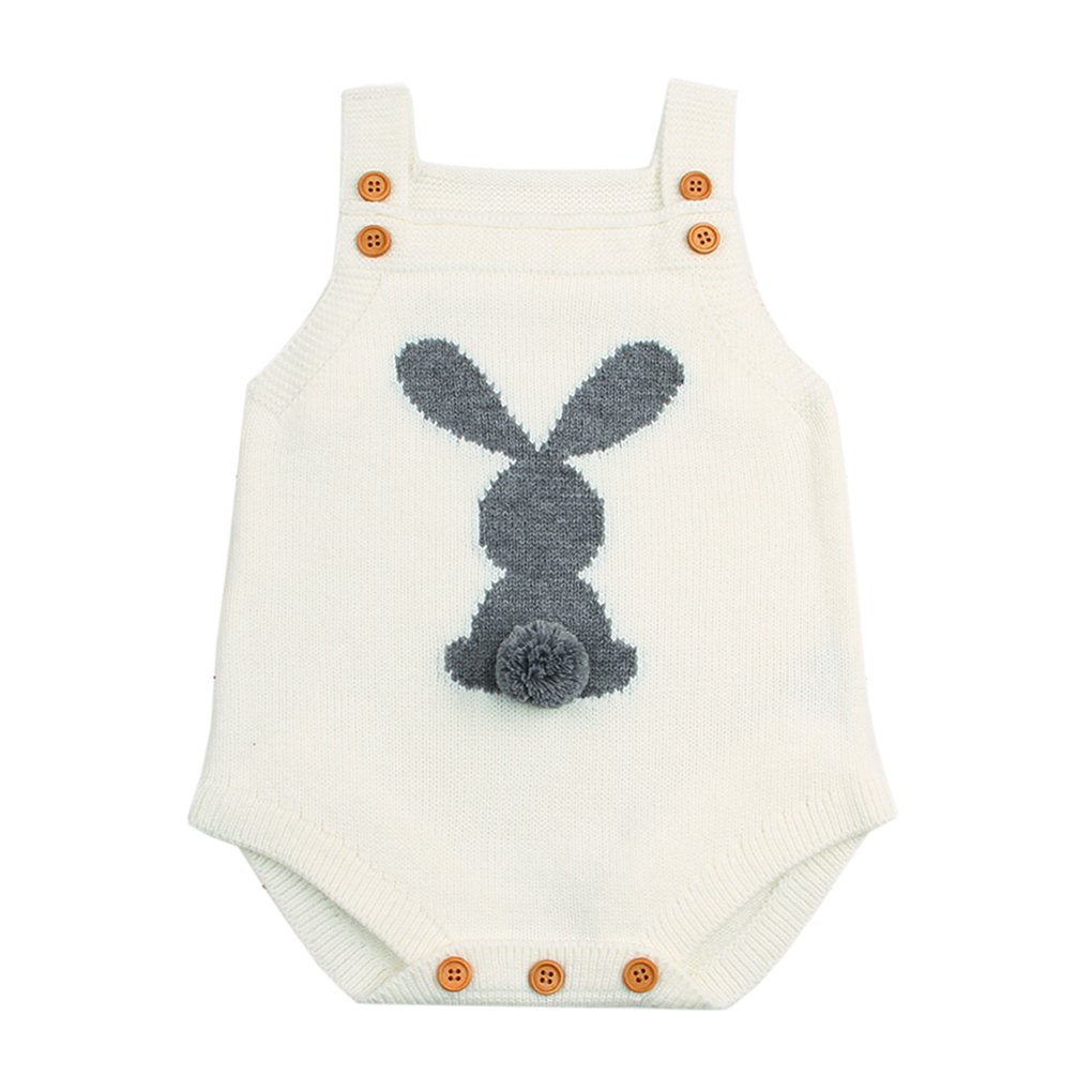 Newborn Baby Boys Girls Clothes Knitted Romper Rabbit Bodysuit Jumpsuit Sunsuit Outfits Set Clothes - Body - Bebè Femminuccia