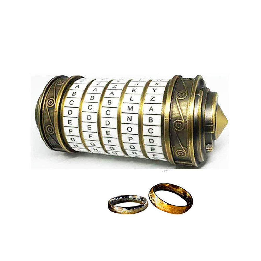 WHRMQ The Mini Da Vinci Code Cryptex Lock,Revomaze,Toy Interesting Gifts for Her or Him to All Festivals Occasions Such as Birthday or The Other Annversary. by WHRMQ