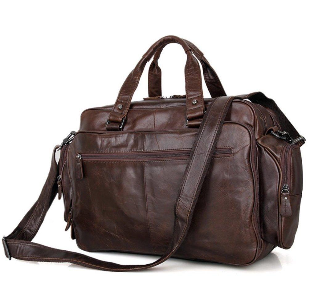 SHISHANG Herren Ledertasche Klassische Einfache Aktentasche große Kapazität Lederhandtasche ZYXCC