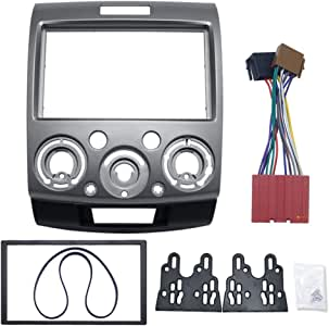 FairOnly Radio Stereo Panel for for-d Ma-zda 2 Din Fascia Dash Installation Trim Kit Face Plate Bezel C: Gray 178X102MM Car Parts