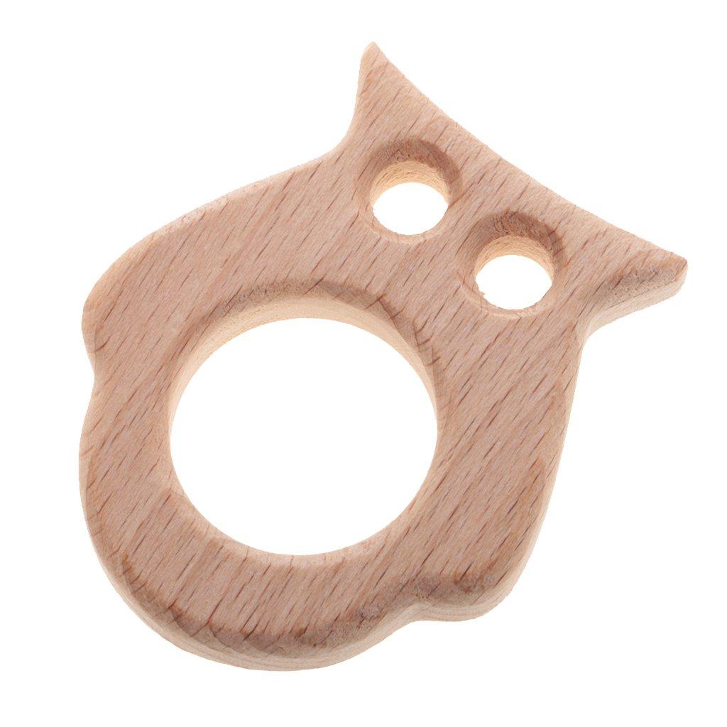 1 Stück Fisch Förmig Beißring aus Holz Kinderspielzeug Babypflege
