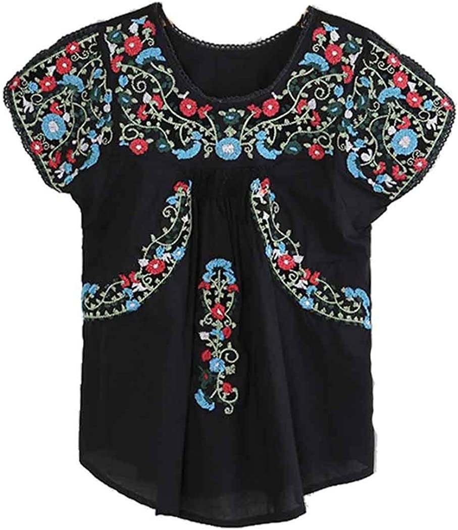 Floral Embroidered Blouse Embroidered Mexican Blouse