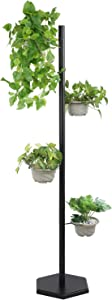 Plant Stands for Indoor Plants Tall Metal Plant Stand Flower Pot Holder Rack for Outdoor Patio Garden, Living Room, Corner Balcony and Bedroom, Rustproof Iron Plant Stand(4 Tier Black)