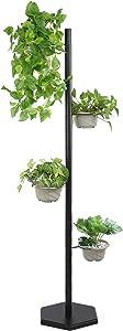 Plant Stands for Indoor Plants Tall Metal Plant Stand Flower Pot Holder Rack for Outdoor Patio Garden, Living Room, Corner Balcony and Bedroom, Rustproof Iron Plant Stand(4 Tier Black)