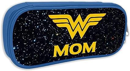 BXBX Wonder Woman Wonder Mom Anime Maquillaje Bolsa Durable Estudiantes Papelería fresca con doble cremallera para niños y niñas: Amazon.es: Oficina y papelería