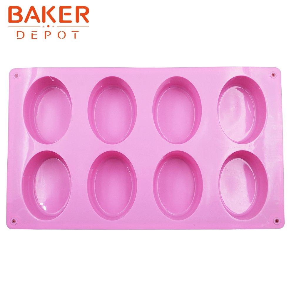 BAKER DEPOT molde de silicona para jab/ón hecho a mano 6 cavidad de huevo de ganso de dise/ño de color rosa