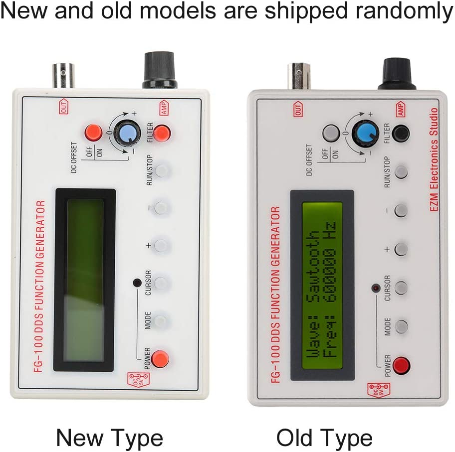 Function Generator Frequency Counter DDS Signal Generator Full-Featured Stable 1Hz 500KHz