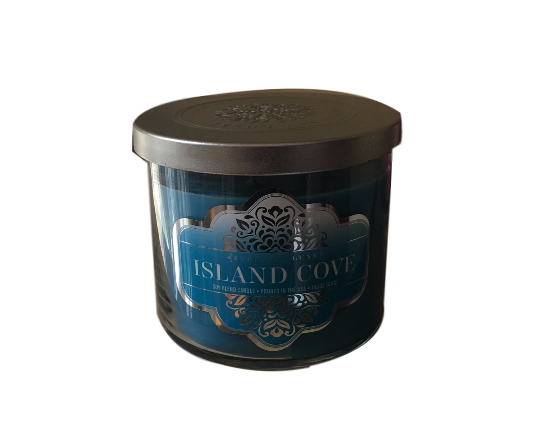 EVERYDAY LUXE Island Cove Scented Highly Fragranced Large 3 Wick Candle