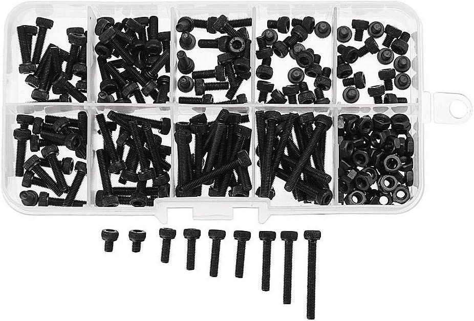 240Pcs M3 Carbon Steel Allen Bolt 4-25mm Button Head Hex Socket Cap Screw Bolt Metric