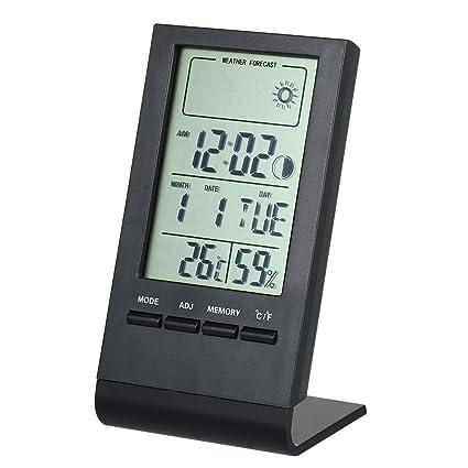KKmoon Mini termómetro digital Interior Higrómetro Sala ℃ / ℉ Temperatura Humedad Monitor Medidor Indicador Alarma