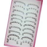 Bluelans® 10 Paar Unterwimpern Falsche künstliche Wimpern Schwarz Eyelasches Wimpernverlängerung Make-up