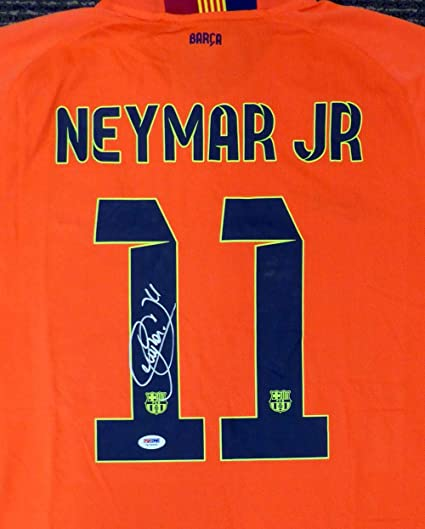 7e899d629d7 Neymar Autographed Jersey - Jr. Qatar Airways Nike Orange Size XL  7A79509  - PSA DNA Certified - Autographed Soccer Jerseys at Amazon s Sports  Collectibles ...