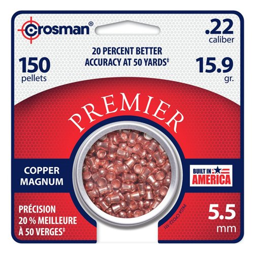 Crosman 22 Copper Magnum Domed Pellet (150 CT)