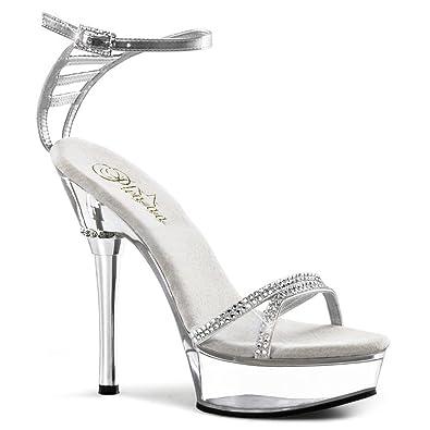 Strass High Heels, Damen, Transparent (transparent), Größe 39
