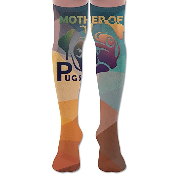 39163d4c3 Amazon.com  Fur Mom Cute Funny Dog Lover Gift Women s Over The Knee High  Leggings Knee High Socks Thigh-High Stockings  Clothing