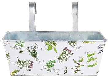 Amazoncom Esschert Design Herb Print Galvanized Steel