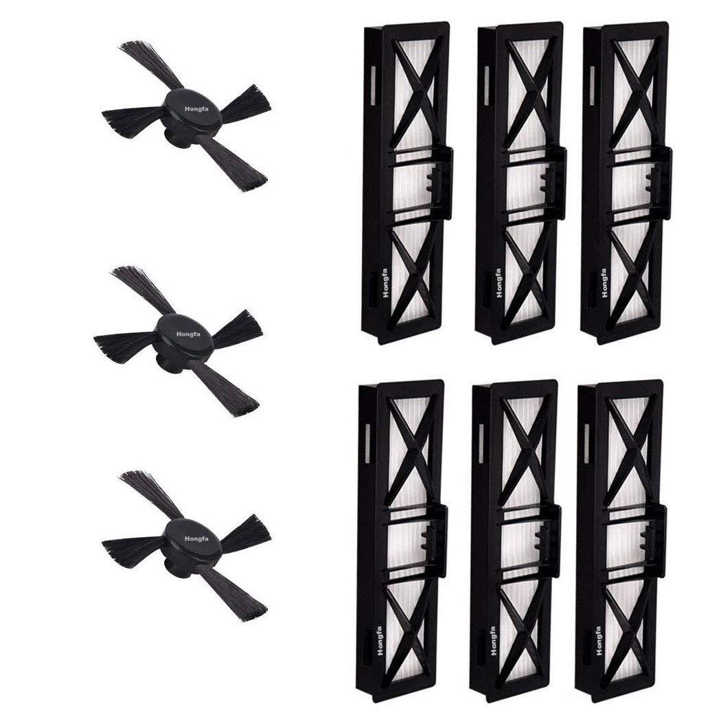 6 filtros de repuesto y cepillos laterales para robot aspirador Neato Robotics Botvac D80 (945-0215), de HonFa: Amazon.es: Hogar