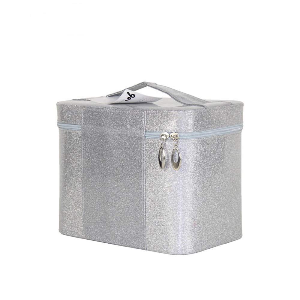 化粧オーガナイザーバッグ ジッパーで小さなものの種類のための旅行のための美容メイクアップのための純粋な色のポータブル化粧品バッグ 化粧品ケース B07PPFJQ61
