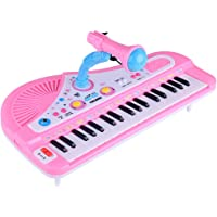 guoYL26sx chird's Toys,37 Keys Electronic Piano with Microphone Kids Playing Musical Instrument Toy - Random Color