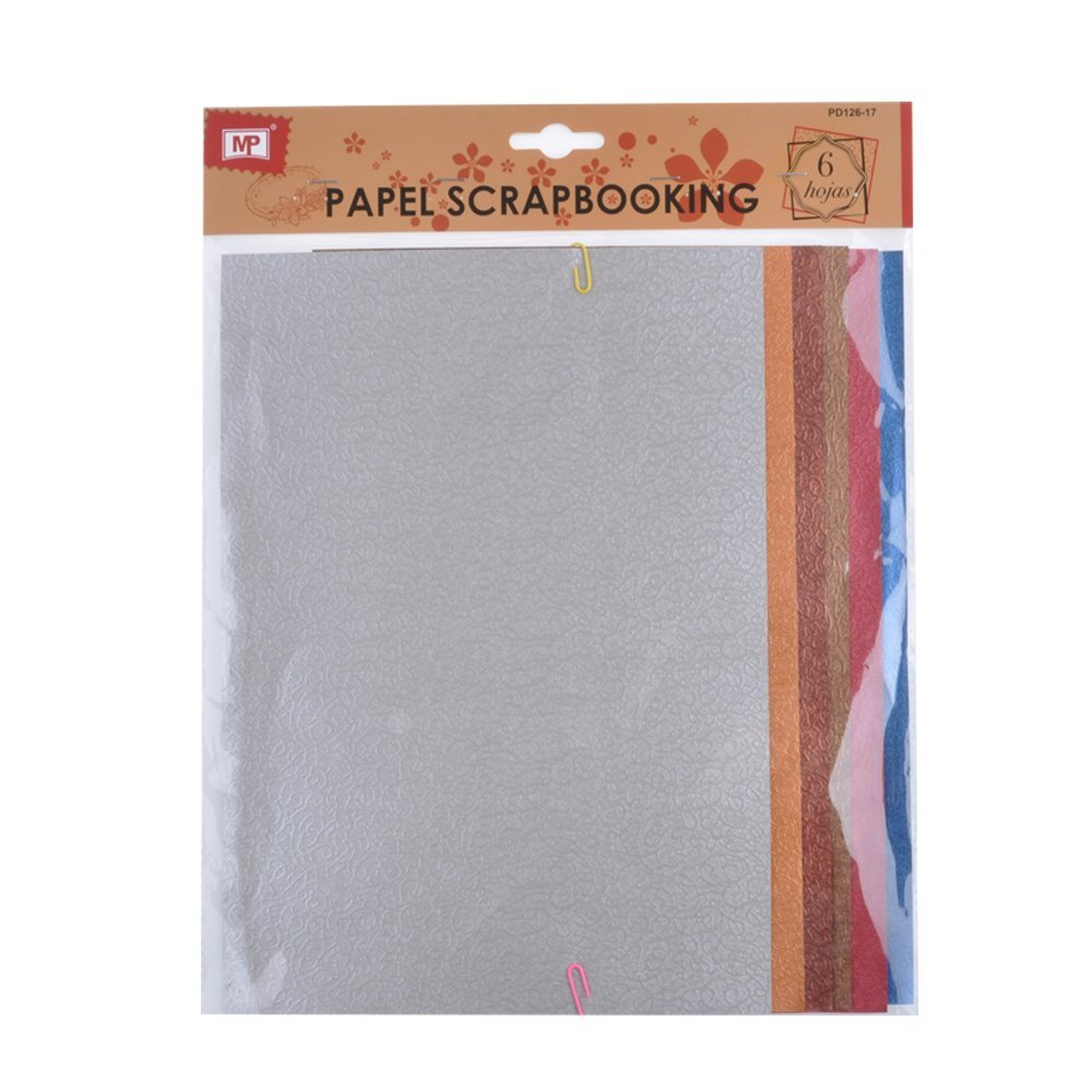 MP PD126 – 17 – Pack of 6 sheets of textured scrapbooking paper, 20 x 41 MADRID PAPEL IMPORT S.L. PD126-17