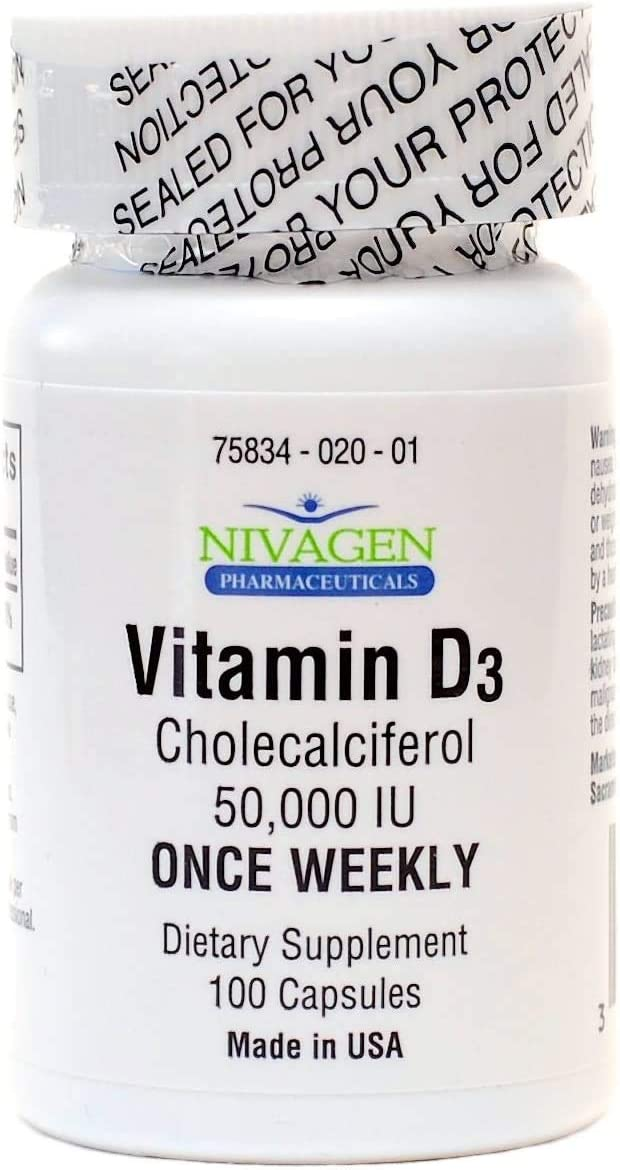 Amazon Com Nivagen Pharmaceuticals Inc Vitamin D3 50 000 Iu 100 Health Personal Care