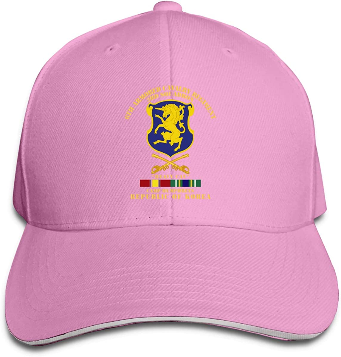 US Army 1st Cavalry Division Classic Adult Caps Printing Bend Along Baseball Hat Snapback Unisex Hat Adjustable