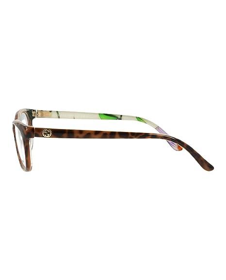 dcea7964038 Amazon.com  Gucci eyeglasses GG 4268 HPO Metal Matt Black - Marble Blue   Clothing