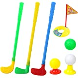 ORZIZRO Plastic Golf Clubs, Educational Golf Toys Sets for Toddlers Kids, Sturdy & Multi-Colored …